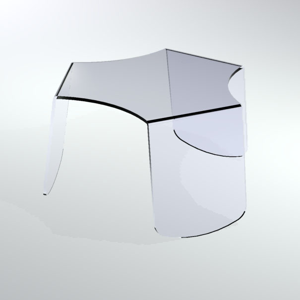 Table basse gigogne plexiglas marcorelles - Table basse en plexi ...