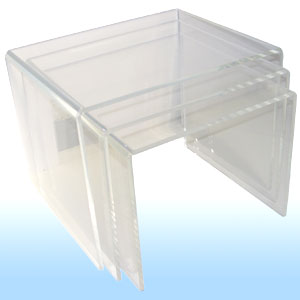 Marcorelles pr sentoirs mobiliers produits en plexi - Table gigogne plexi ...